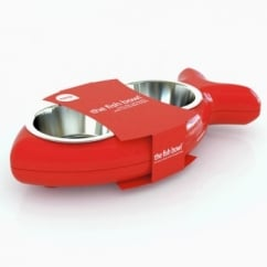 Cat Bowl Bone - Red