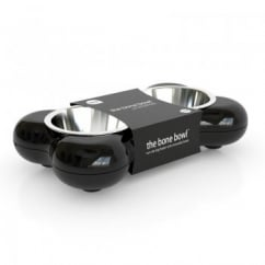 Dog Bowl Bone - Black