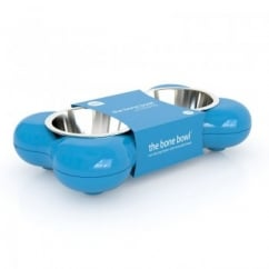 Dog Bowl Bone - Blue