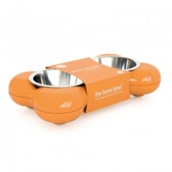 Dog Bowl Bone - Orange