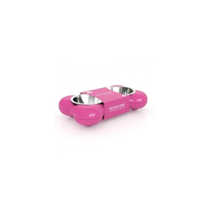 Hing Dog Bowl Bone - Pink