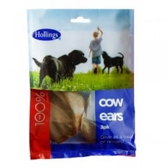 Hollings Cow Ears Dog Treat 3pk