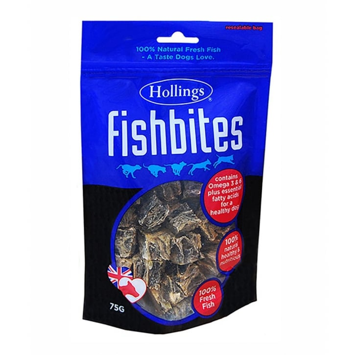 Hollings Fishbites Dog Treat 75g