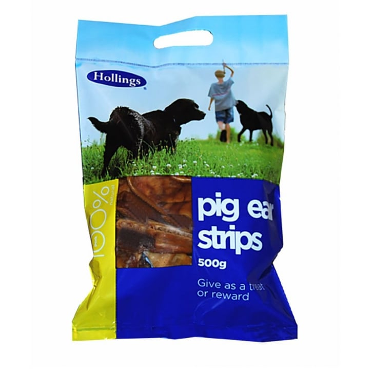Hollings Pig Ear Strips Carry Bag 500g