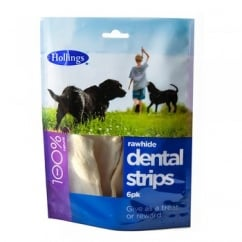 Hollings Rawhide Dental Strips 6pk