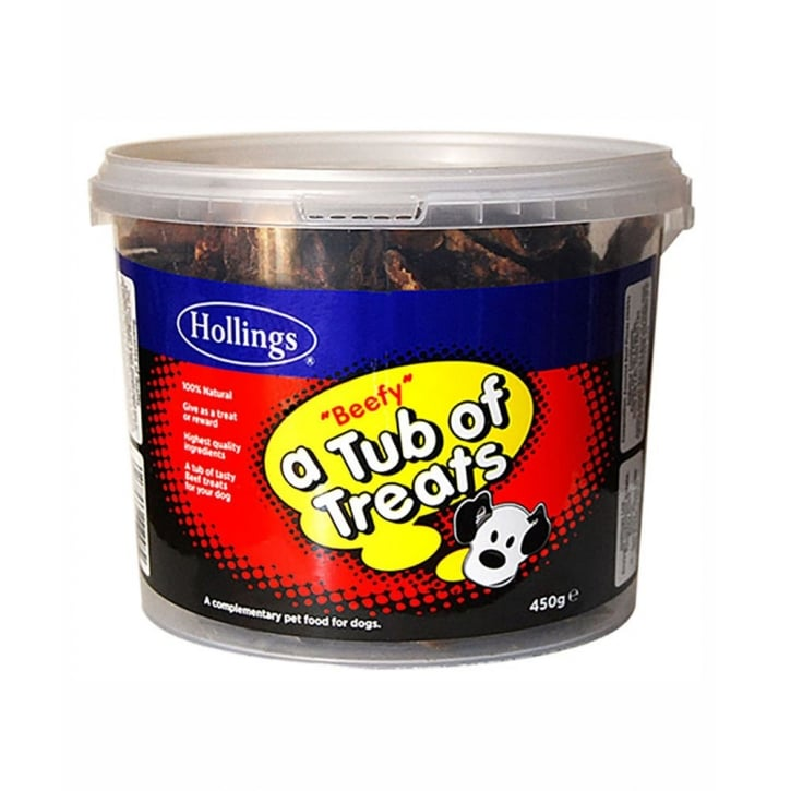 Hollings Tub Of Dog Treats Beef 450g