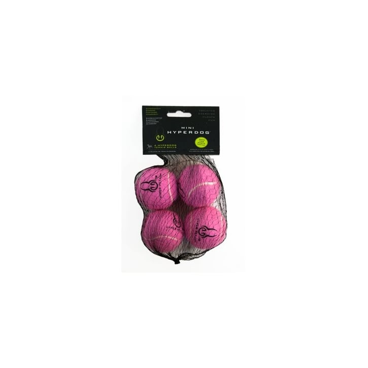 Hyper Pet Mini Tennis Balls Dog Play Toy Pink 4pk
