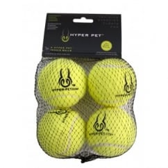 Hyper Pet Tennis Balls Dog Play Toy Green 4pk