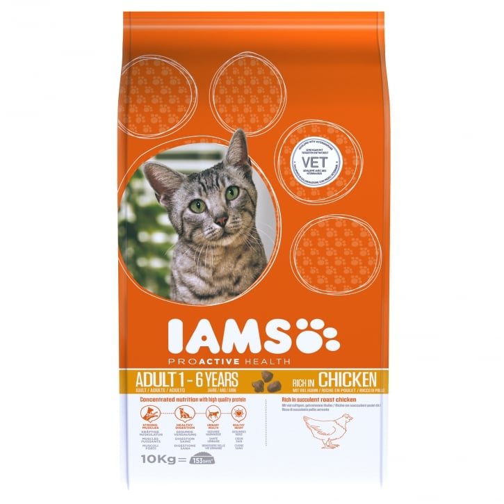 Iams Adult Cat In Chicken Cat Food 10kg