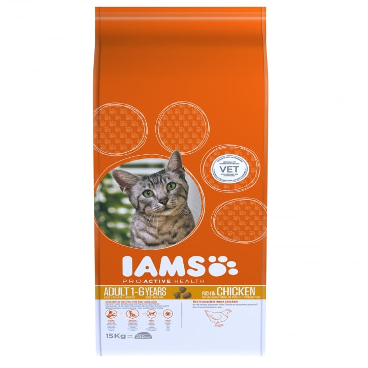 Iams Adult Cat In Chicken Cat Food 15kg