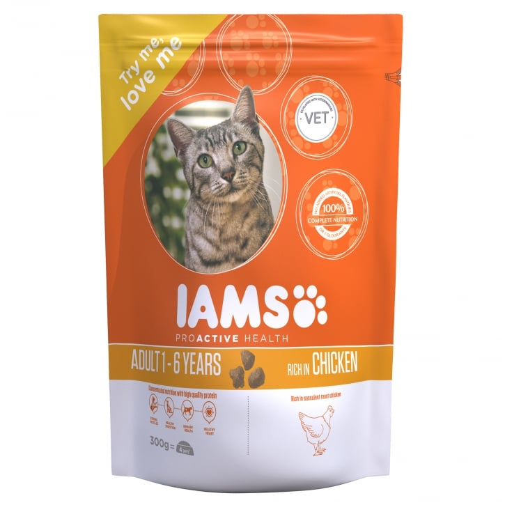 Iams Adult Cat In Chicken Cat Food 300g