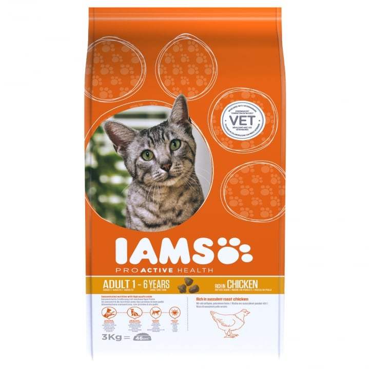 Iams Adult Cat In Chicken Cat Food 3kg