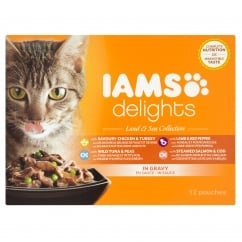 Delights Cat Wet Land & Sea Collection in Gravy 12 x 85g