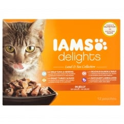 Delights Cat Wet Land & Sea Collection in Jelly 12 x 85g