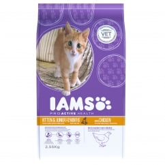 Iams Kitten & Junior In Chicken Cat Food 2.55kg