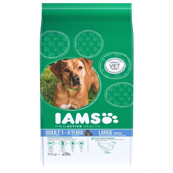 Iams Large Breed Adult Dog In Chicken Dog Food 3kg