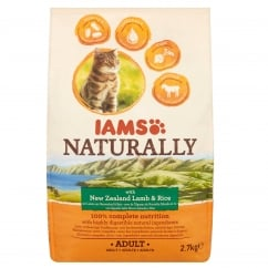 Naturally Adult Cat with New Zealand Lamb & Rice Cat Food 2.7kg