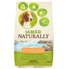 Naturally Adult Dog in North Atlantic Salmon & Rice Dog Food 2.7kg
