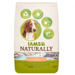 Iams Naturally Adult Dog in North Atlantic Salmon & Rice Dog Food 7kg