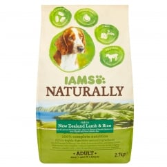Naturally Adult Dog Rich in New Zealand Lamb & Rice Dog Food 2.7kg