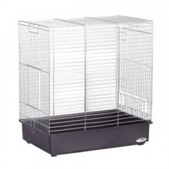 Dora 2 Cockatiel Cage Chrome Bars 61x40x66cm (24x16x26
