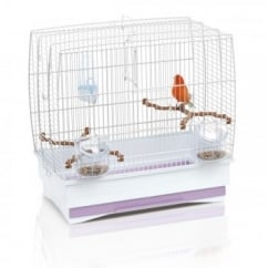 Irene 2 Small Bird Cage - White Bars