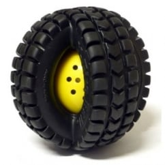 Pet Qwerks Small Babble Ball X Tire Animal Sounds Dog Play Toy - 3.5