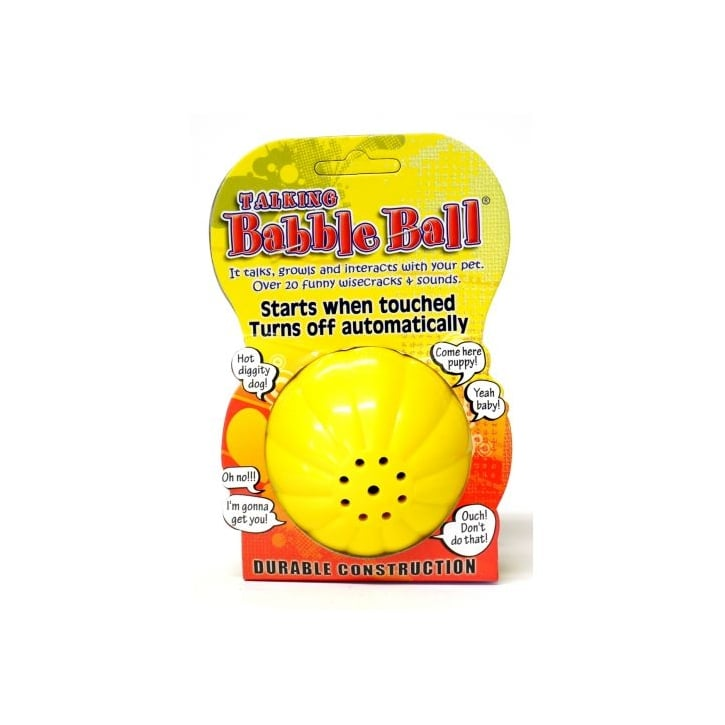 James & Steel Pet Qwerks Large Babble Ball Talking 20+ Different Wisecracks Or Sounds Dog Play Toy