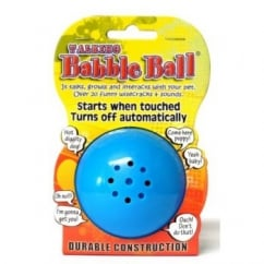 James & Steel Pet Qwerks Medium Babble Ball Talking 20+ Different Wisecracks Or Sounds Dog Play Toy