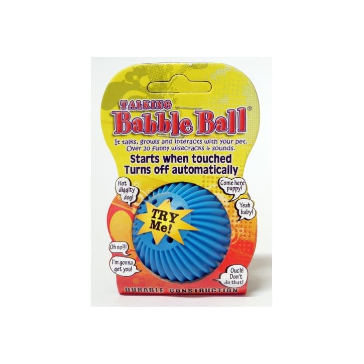 James & Steel Pet Qwerks Small Babble Ball Talking 20+ Different Wisecracks Or Sounds Dog Play Toy