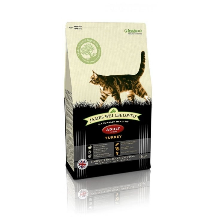 James Wellbeloved Adult Cat Turkey & Rice Cat Food 1.5kg