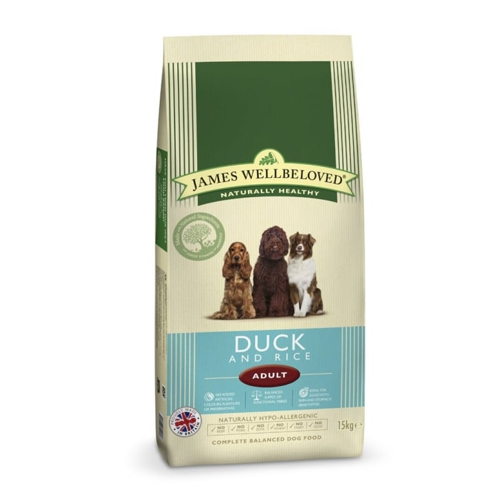 James Wellbeloved Adult Duck & Rice Dog Food 15kg