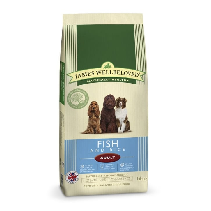 James Wellbeloved Adult Fish & Rice Dog Food 15kg