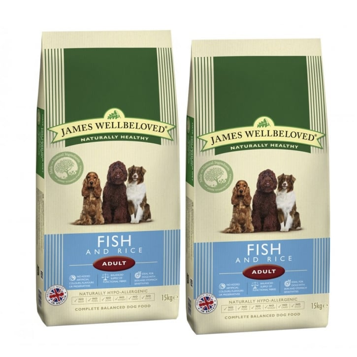 James Wellbeloved Adult Fish & Rice Dog Food 2 x 15kg