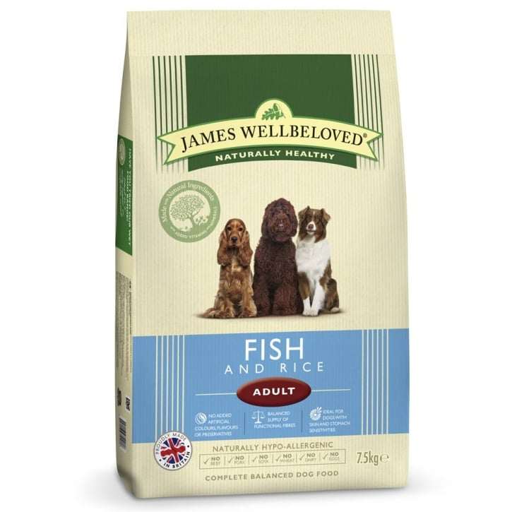 James Wellbeloved Adult Fish & Rice Dog Food 7.5kg