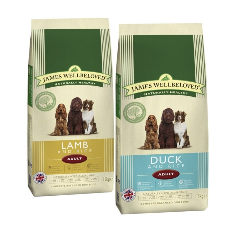 James Wellbeloved Adult Lamb / Duck & Rice Dog Food 2 x 15kg