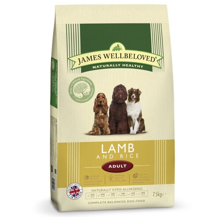 James Wellbeloved Adult Lamb & Rice Dog Food 7.5kg