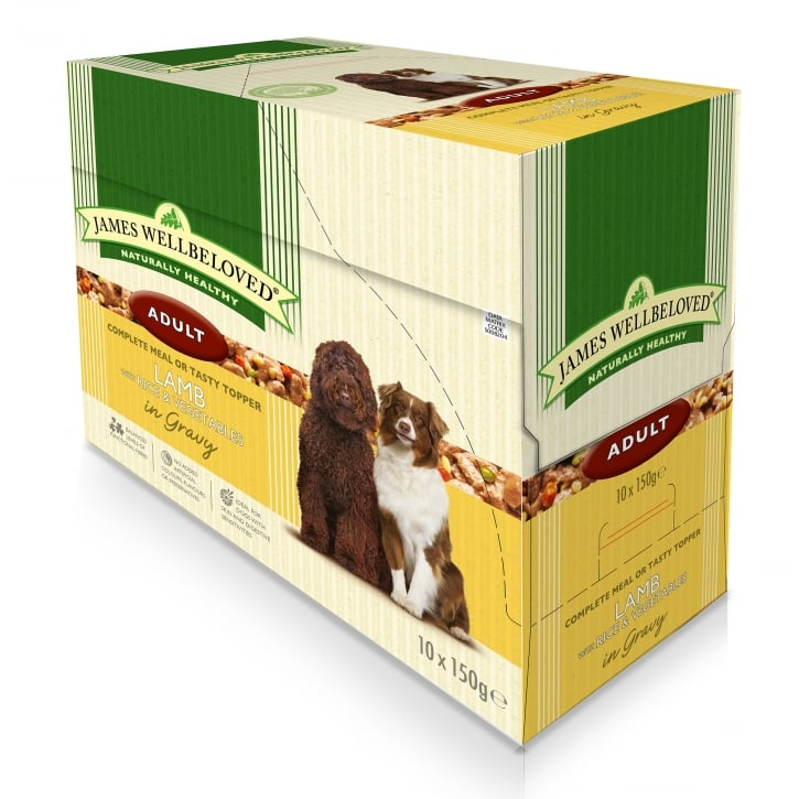 James Wellbeloved Adult Lamb with Rice & Vegetable Pouch 10 x 150g