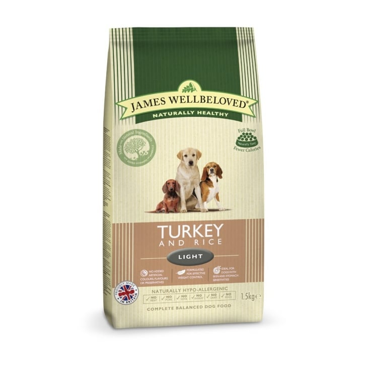 James Wellbeloved Adult Light Turkey & Rice Dog Food 1.5kg