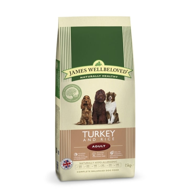 James Wellbeloved Adult Turkey & Rice Dog Food 15kg