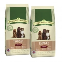 Adult Turkey & Rice Dog Food 2 x 15kg