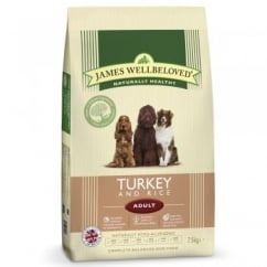 Adult Turkey & Rice Dog Food 7.5kg