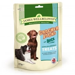 James Wellbeloved Crackerjacks Duck Dog Treat 225g