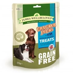 James Wellbeloved Crackerjacks Grain Free Fish Dog Treat 225g