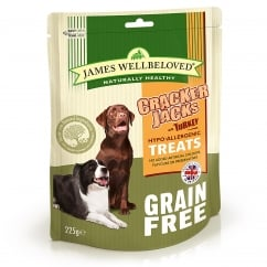 Crackerjacks Grain Free Turkey Dog Treat 225g