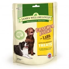 James Wellbeloved Crackerjacks Lamb Dog Treat 225g