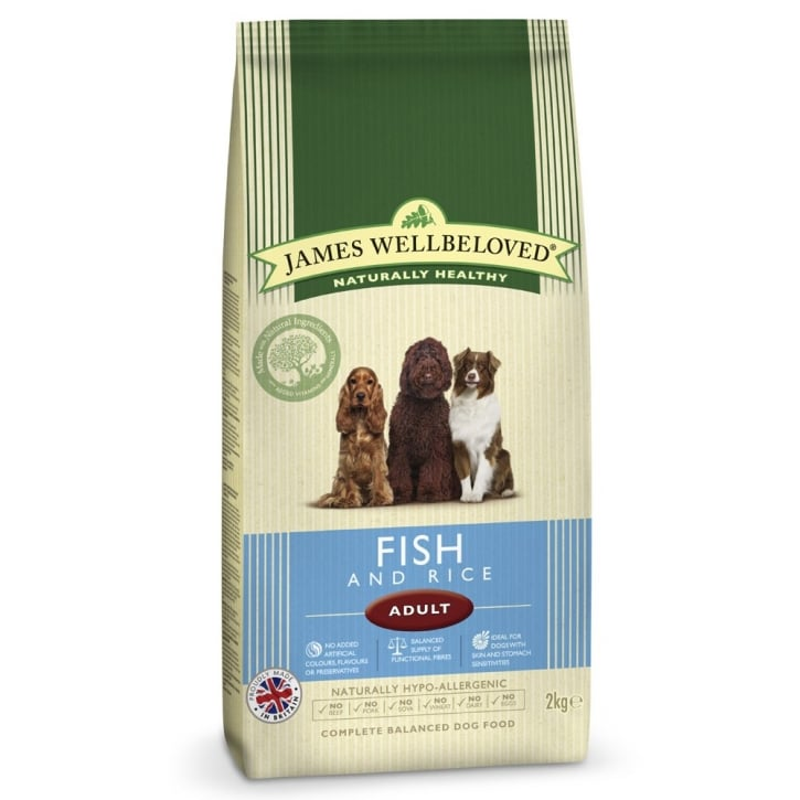 James Wellbeloved Fish & Rice Adult Dog Food 2kg