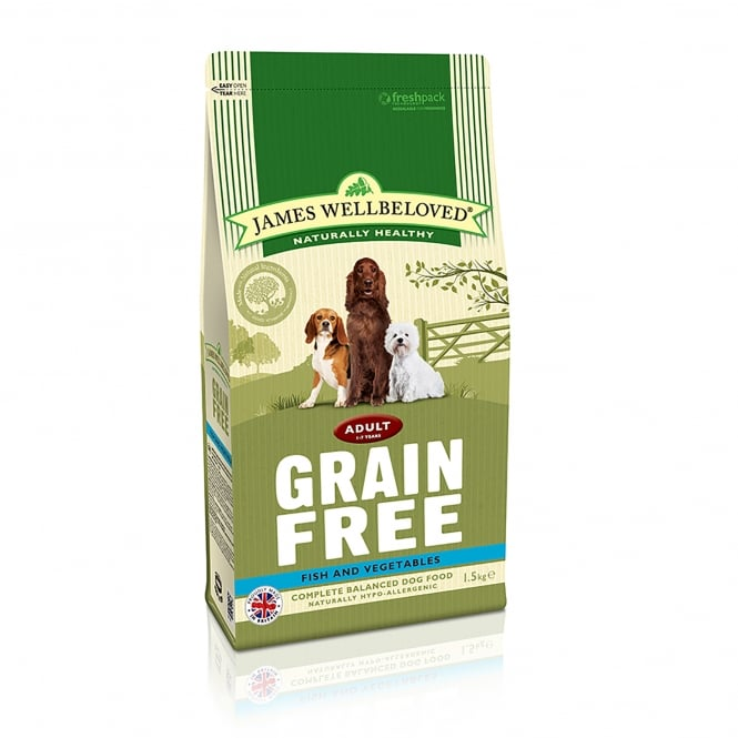 James Wellbeloved Grain Free Adult Fish & Vegetable Dog Food 1.5kg