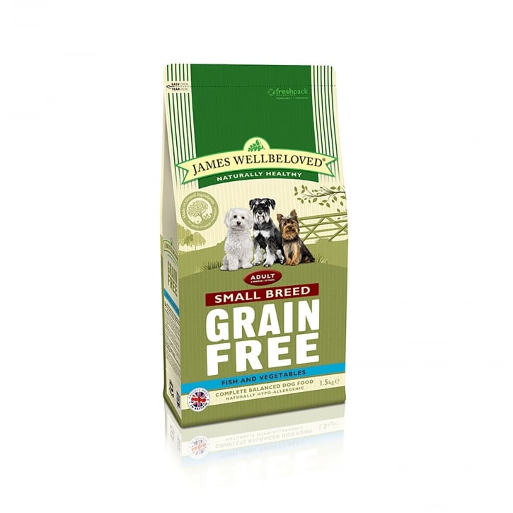 James Wellbeloved Grain Free Adult Small Breed Fish & Vegetable Dog Food 1.5kg