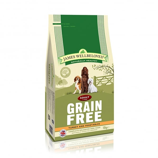 James Wellbeloved Grain Free Adult Turkey & Vegetable Dog Food 10kg